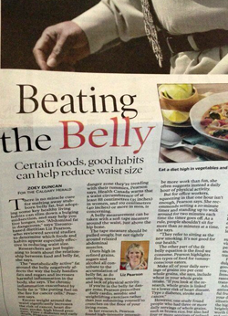 Calgary Herald Life section showing Beating the Belly article