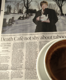 It's cake and death talk on a Sunday afternoon. What's not to like?