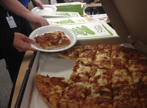Vern's Pizza, courtesy of the Edmonton Journal and so delicious that everyone immediately swore off ever ordering another kind of pizza to the newsroom.