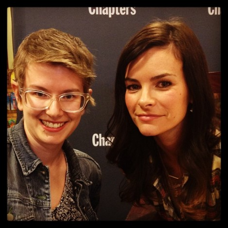 I decided to let Kelly Oxford be the saucy-looking lead just this one time and I would be the goofy sidekick.