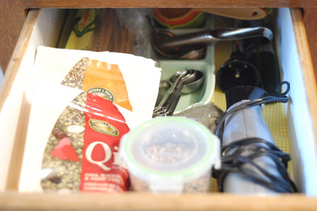 Sure, it's busy in that drawer, but at least it's not full of junk anymore.