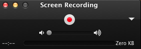 Screen recording using Quicktime