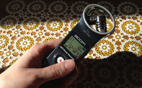 I use a Zoom H1 Handy Recorder to record all my interviews. high quality sound in a tight package that's easy on batteries.