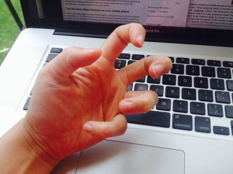 How my hands feel when I don't stretch enough during transcribing marathon