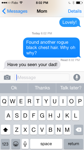 Texts with Mom