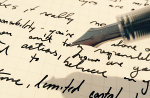 Oddly, buying this pen and paper didn't make me start a new writing project.