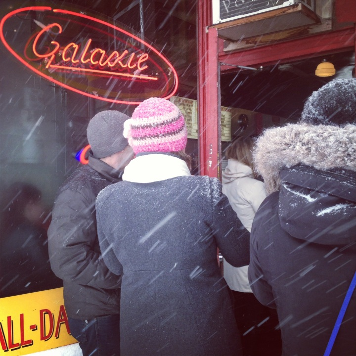 Brunch at Galaxie may mean waiting in the snow.