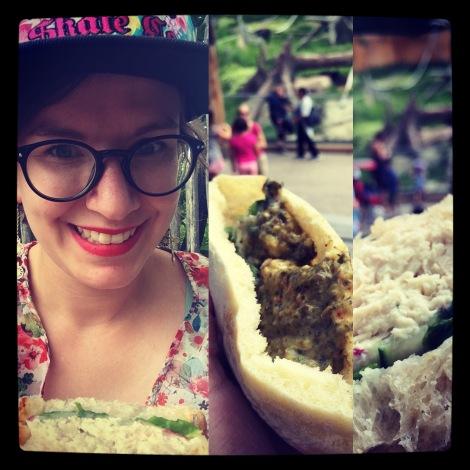 Zoo sandwich selfie