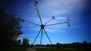 Michel de Broin's huge sculpture, Bloom.
